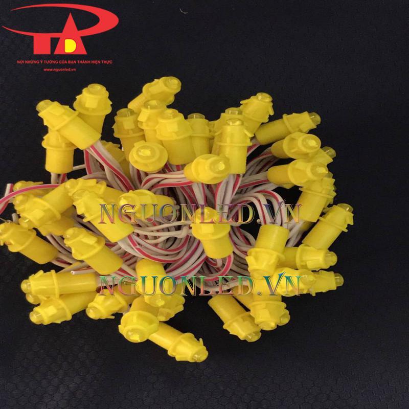 Đại lý cấp 1 đèn led đúc F5 màu vàng chùa