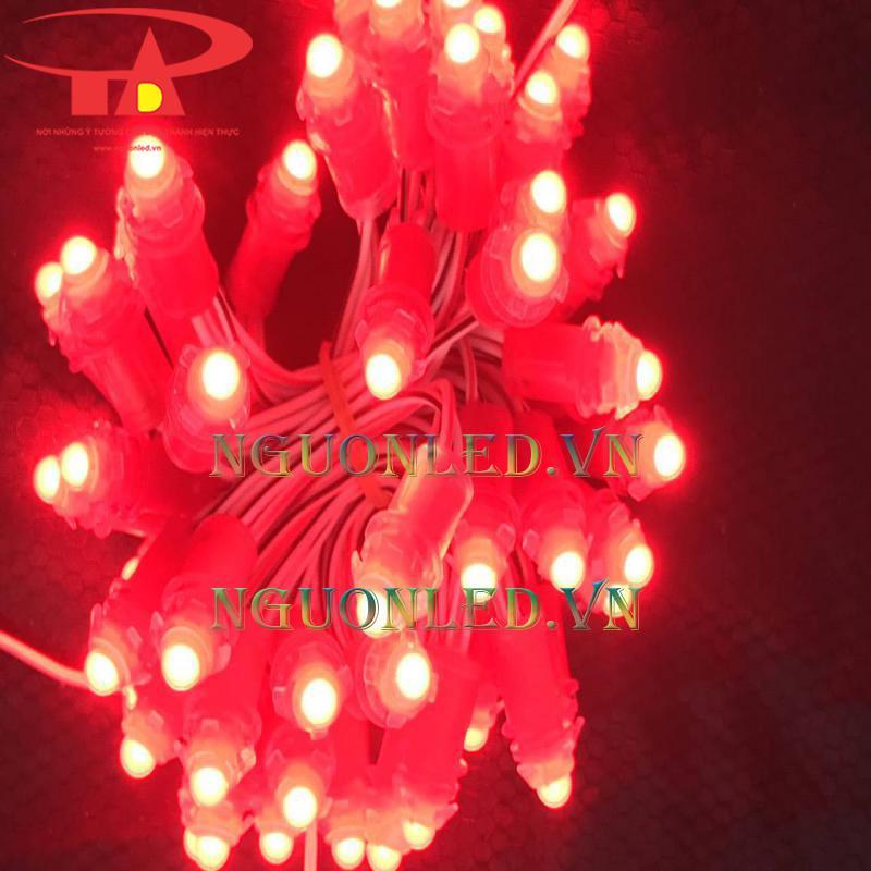 Bóng đèn led đúc f5 12v màu đỏ