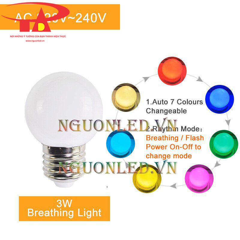 Đèn chanh trang trí RGB 3w