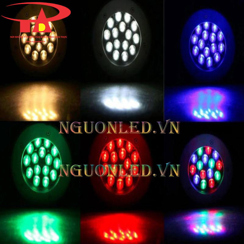 Đèn led chiếu điểm 16w nhiều màu tại tân phú