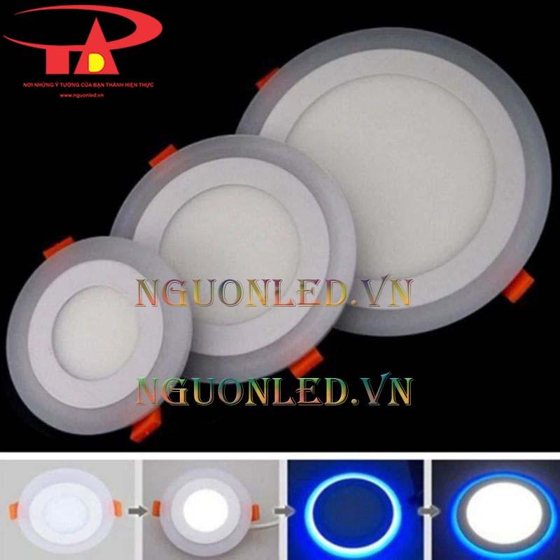 Đèn led âm trần tròn 6w 3 màu được bán tại hcm