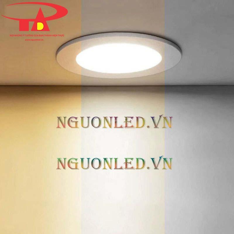 Bán sỉ Đèn led downlight 3 màu 6w tại nguonled.vn