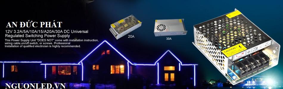 Nguồn led 12v20A loại tốt dùng cho camera, đèn led và điện công nghiệp