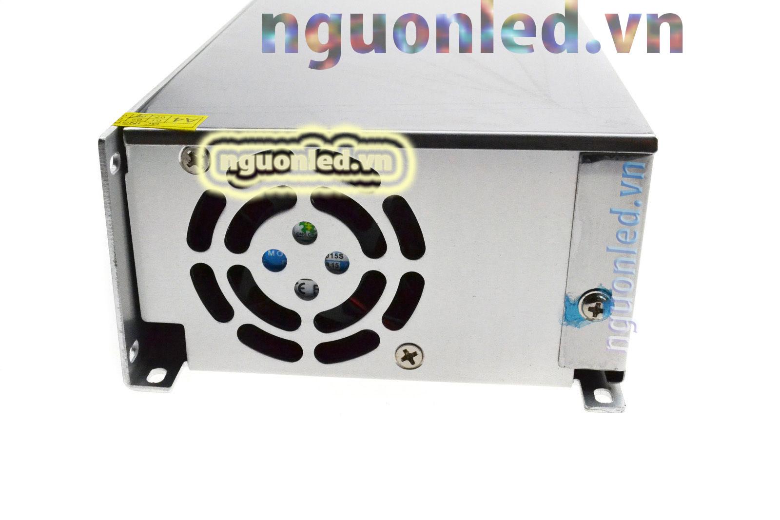 Nguồn tổng 12V 40A loại tốt, đủ ampe, giá rẻ, chất lượng, có quạt, dùng cho camera, đèn led, nguonled.vn