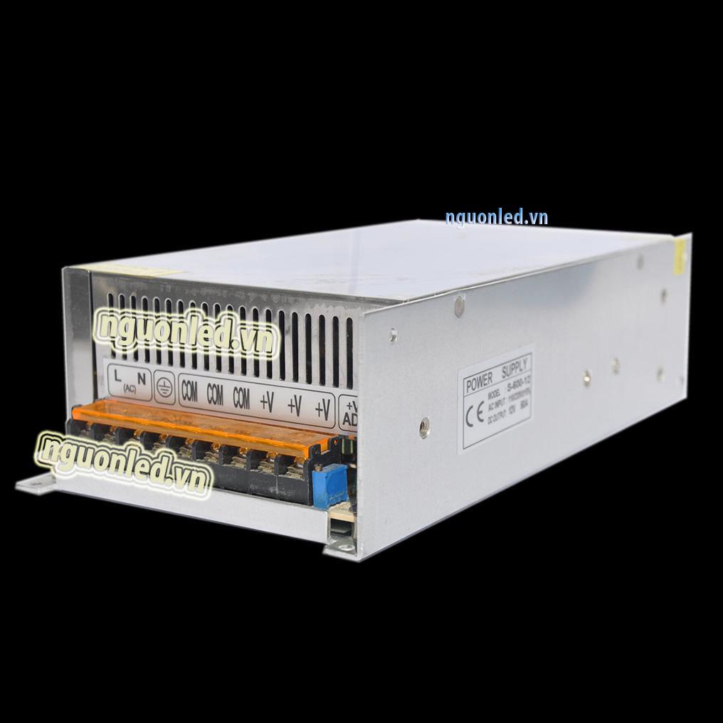Nguồn DC12V 40A loại tốt, đủ ampe, giá rẻ, chất lượng, có quạt, dùng cho camera, đèn led, nguonled.v