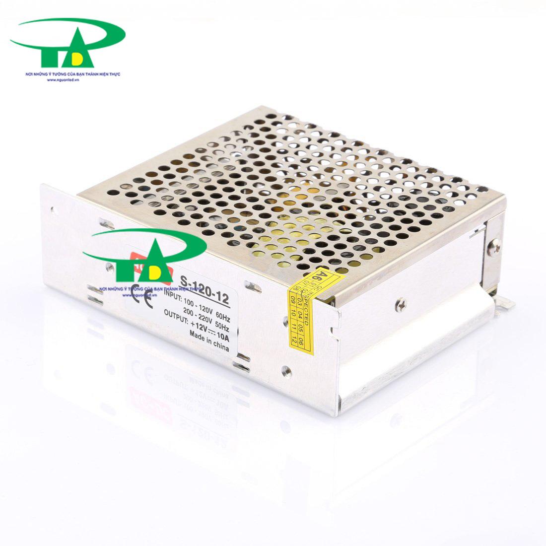 Nguồn tổng 12v 10A loại tốt, giá rẻ, đủ ampe, nguonled.vn