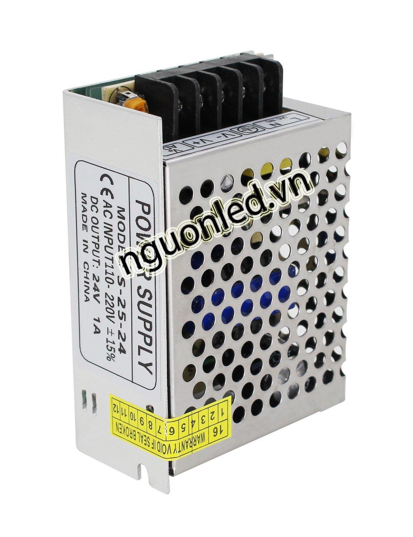 Nguồn led 24V 1A loại tốt, giá rẻ bảo hành 1 năm, nguonled.vn