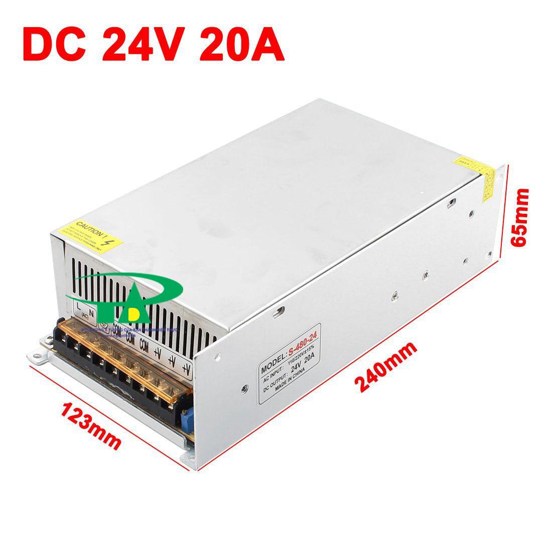 Nguồn led 24v 20A loại tốt dùng cho camera, đèn led và điện công nghiệp mua tại nguonled.vn