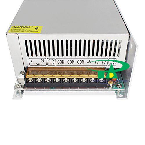 Hình ảnh phía trước bộ nguồn 24V 20A loại tốt dùng trong điện công nghiệp, đèn led