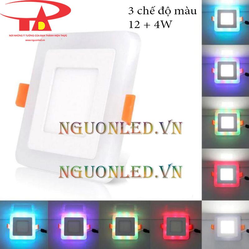 Đèn led âm trần 3 chế độ màu 12+4w
