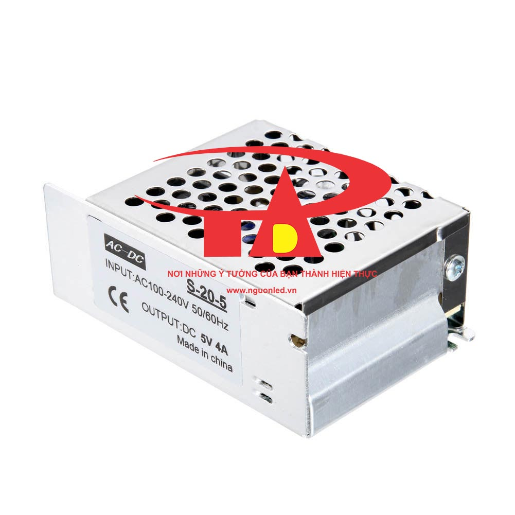 Nguồn led 5v 4A loại tốt dùng cho camera, đèn led và điện công nghiệp