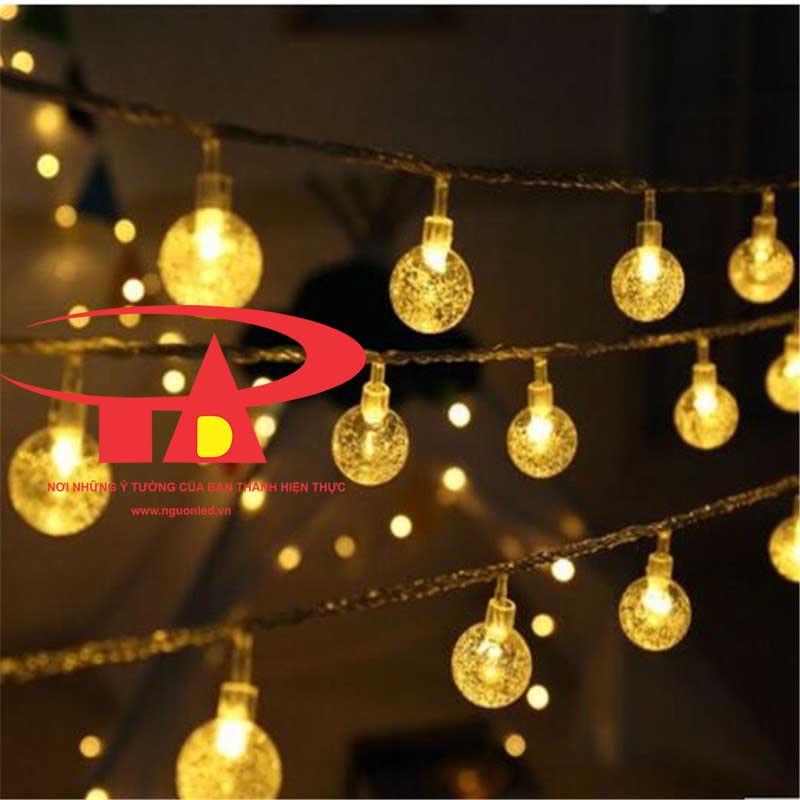 Dây Đèn led chớp bi bọt nước loại tốt dùng trang trí noel, quán cà phê, nhà hàng, khách sạn, giáng sinh, cây thông