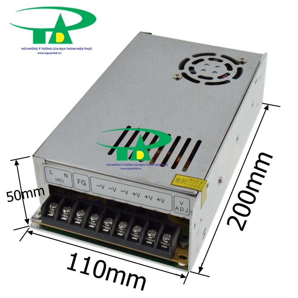 Bộ Nguồn DC12V 20A có quạt, loại tốt, giá rẻ, đủ ampe dùng cho camera, đèn led, mua tại nguonled.vn