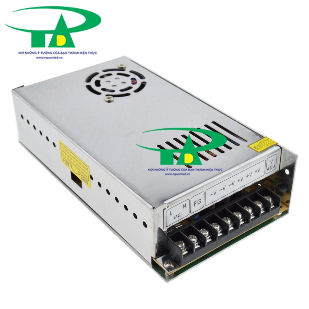 Nguồn tổng DC12V 20A có quạt, loại tốt, giá rẻ, đủ ampe dùng cho camera, đèn led, mua tại nguonled.vn
