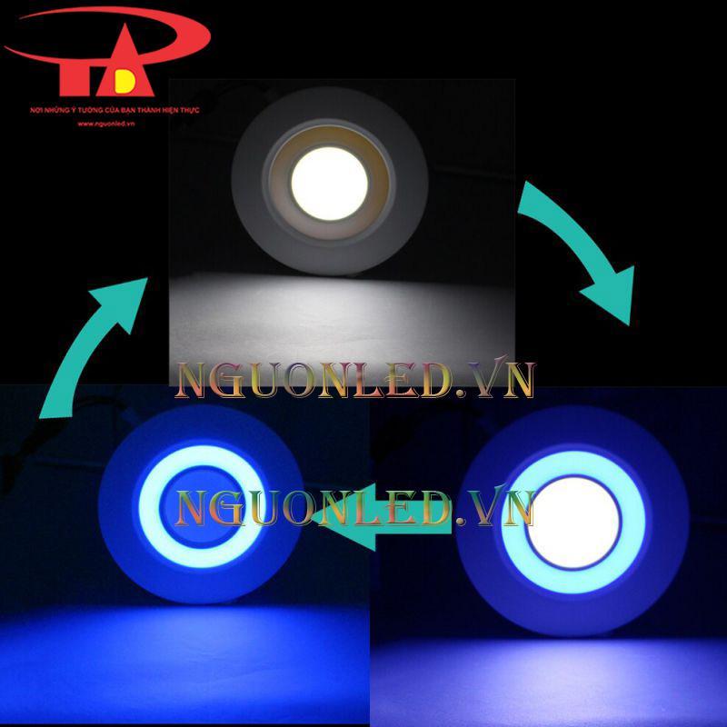 Đèn led âm trần tròn 3 chế độ