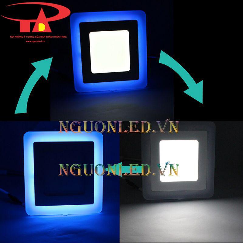 Đèn led âm trần vuông 3 màu hcm