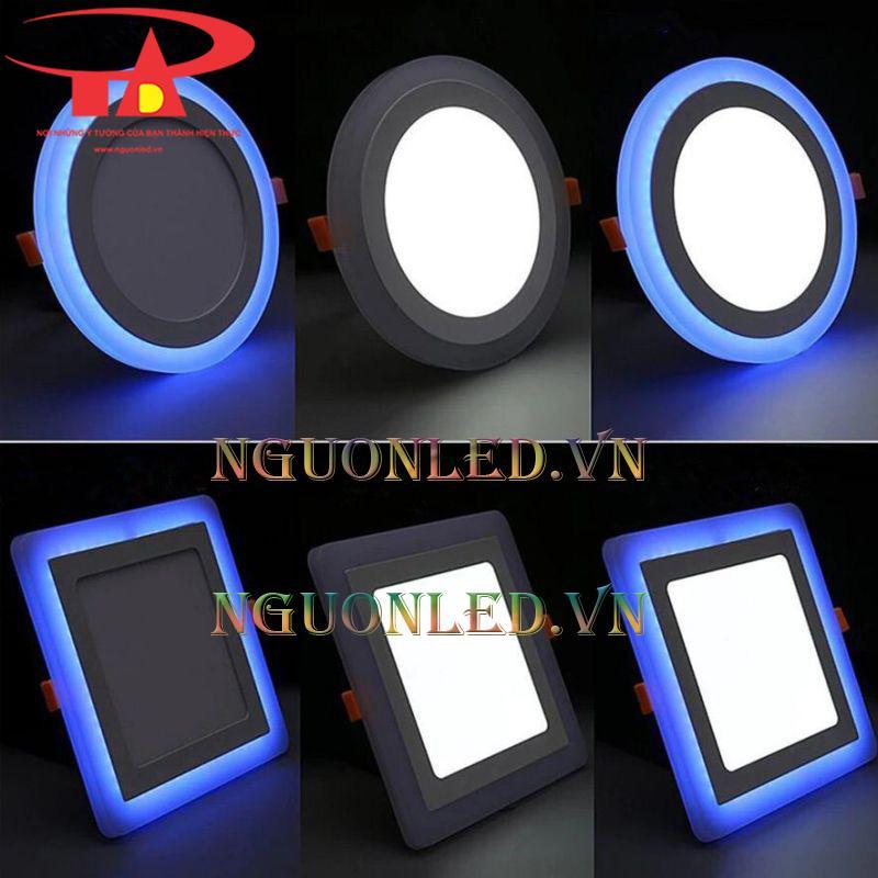 Đèn led âm trần 3 chế độ màu tại hcm