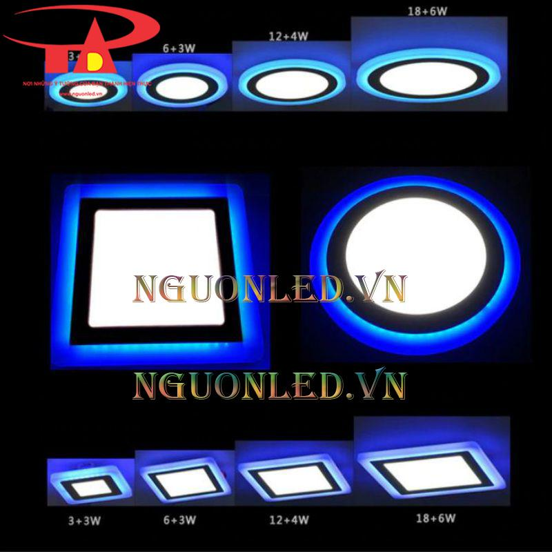 Đèn âm trần vuông 3 chế độ màu giá rẻ