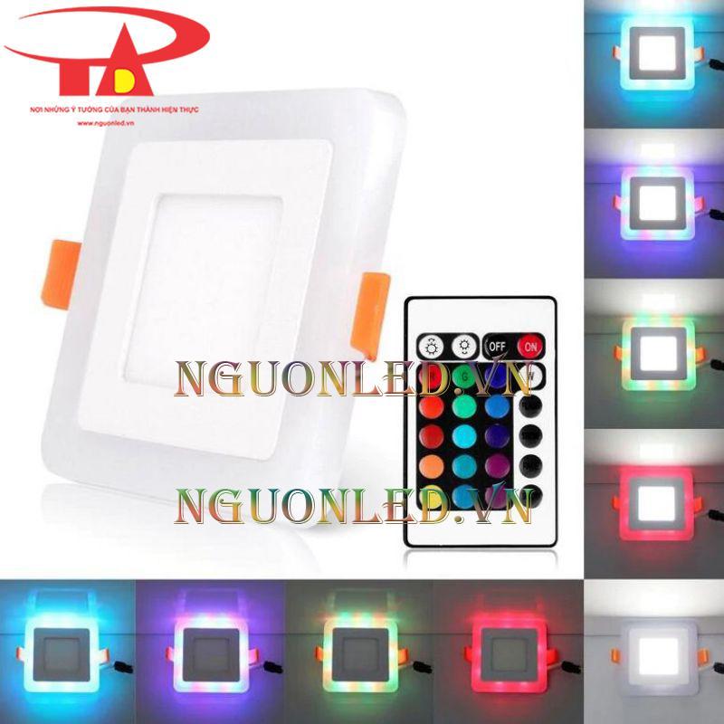 Đèn led âm trần 3 chế độ màu có remote