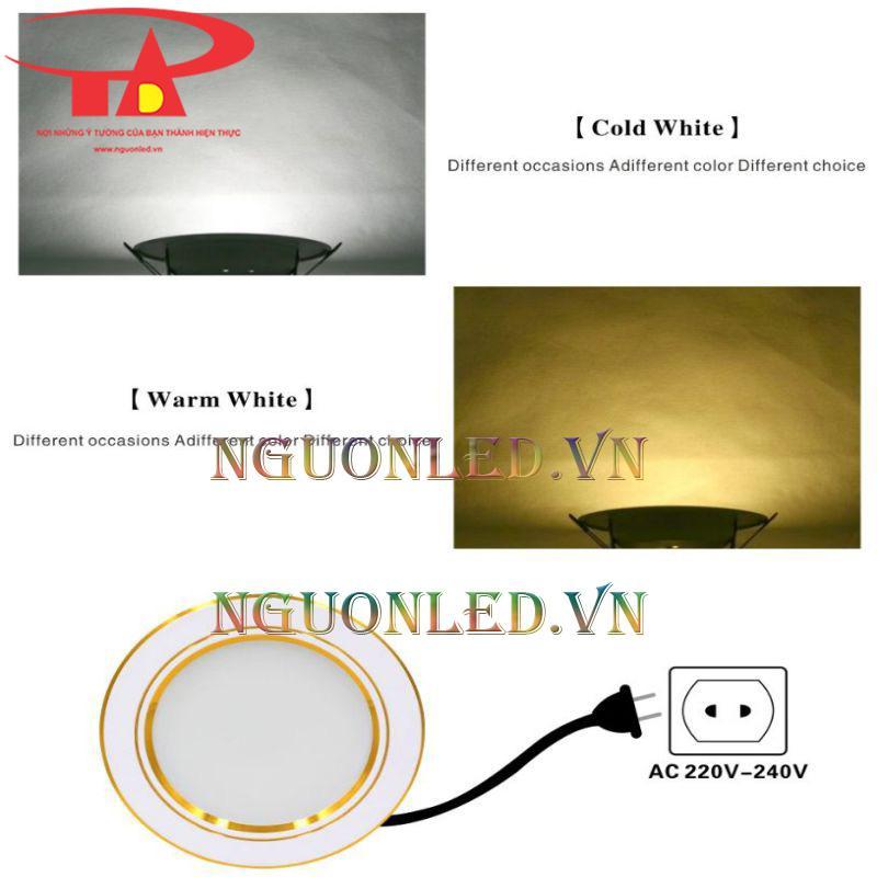 Đèn led âm trần tròn 7w nhật tảo