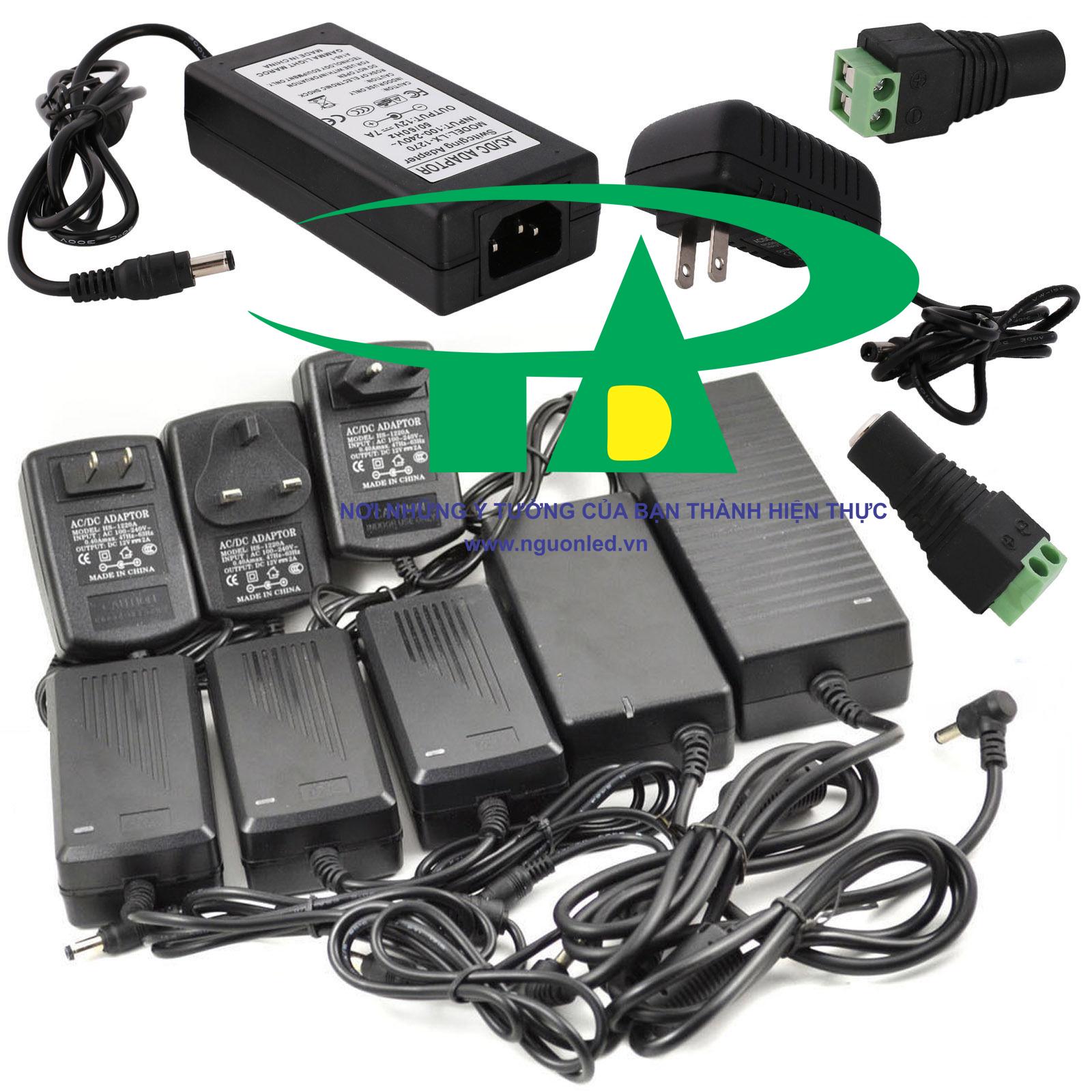 Adapter camera 12V 5A loại tốt, giá rẻ, bảo hành 1 năm tại nguonled.vn