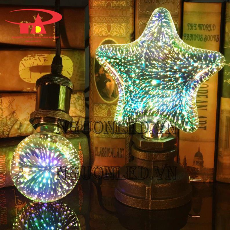đèn pháo hoa trang trí 3d