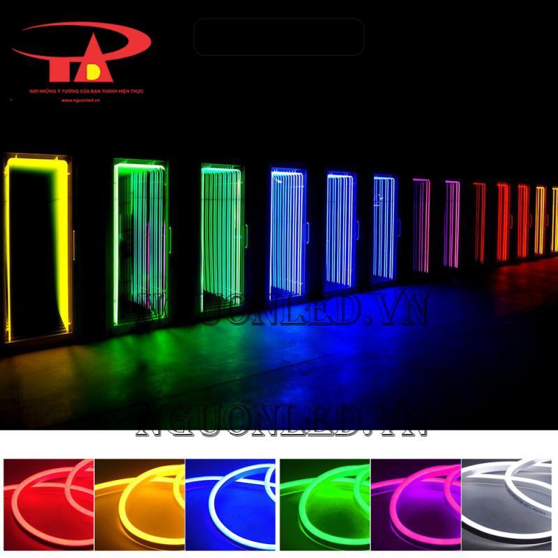 các màu đèn led dây trang trí neon