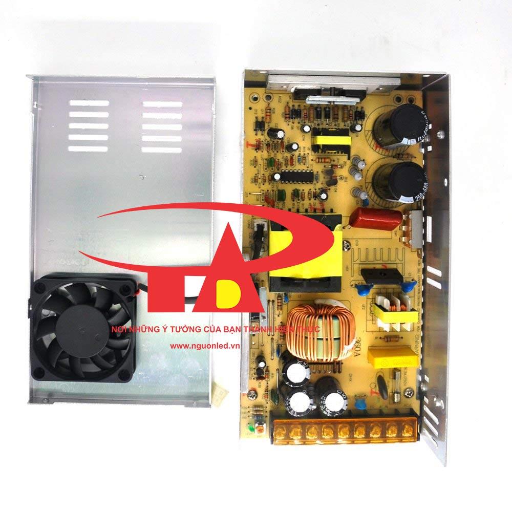 Nguồn DC24V 15A loại tốt, chất lượng, đủ ampe, giá rẻ, có quạt dùng cho đèn led, tự động hóa, camera, nguonled.vn