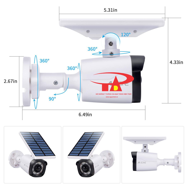 camera năng lượng mặt trời SCL02 hiệu suất tốt, giá rẻ