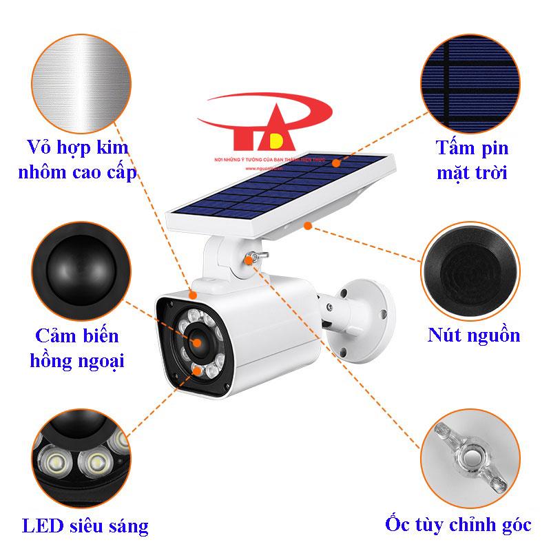 camera năng lượng mặt trời SCL02 chống thấm nước, siêu bền