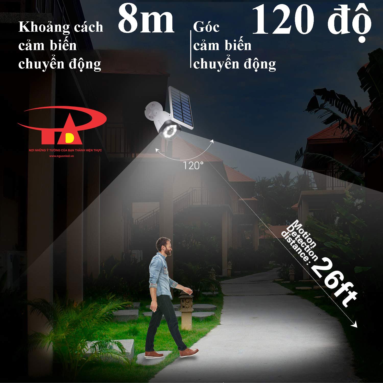 camera năng lượng mặt trời SCL02 cảm biến chuyển động