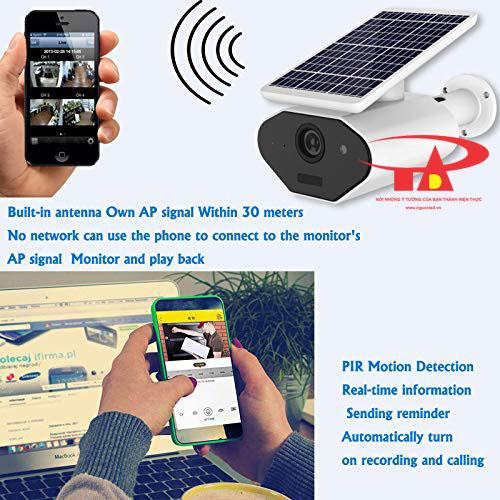 camera năng lượng mặt trời SCL04 loại tốt, chống thấm nước