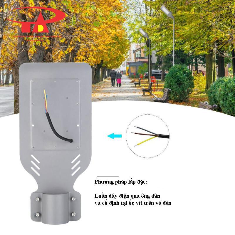 phương pháp lắp đặt đèn đường NLMT 50w 48 led