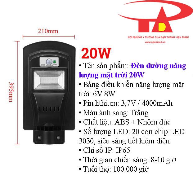 đèn đường nlmt 20w công suất cao, siêu sáng