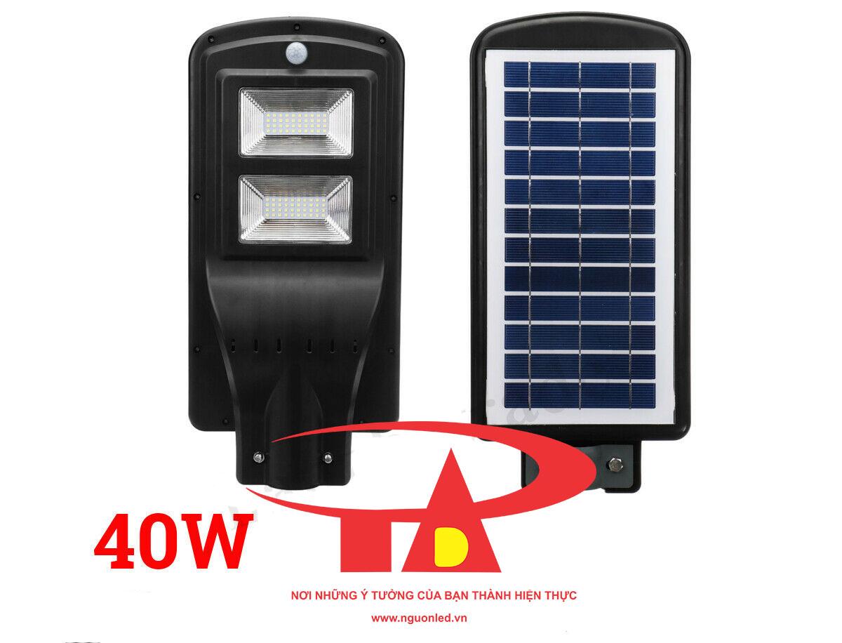 đèn đường năng lượng mặt trời 40w chống thấm nước