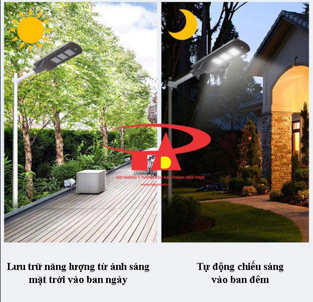 đèn đường năng lượng mặt trời 60w chiếu sáng thông minh