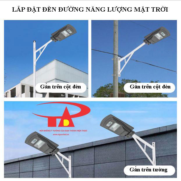ứng dụng đèn đường năng lượng mặt trời 30w chống thấm nước