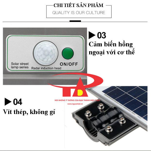 ưu điểm đèn đường năng lượng mặt trời 40w loại tốt