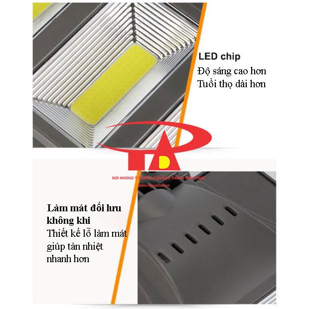 ưu điểm đèn chiếu đường NLMT 20w ánh sáng mạnh