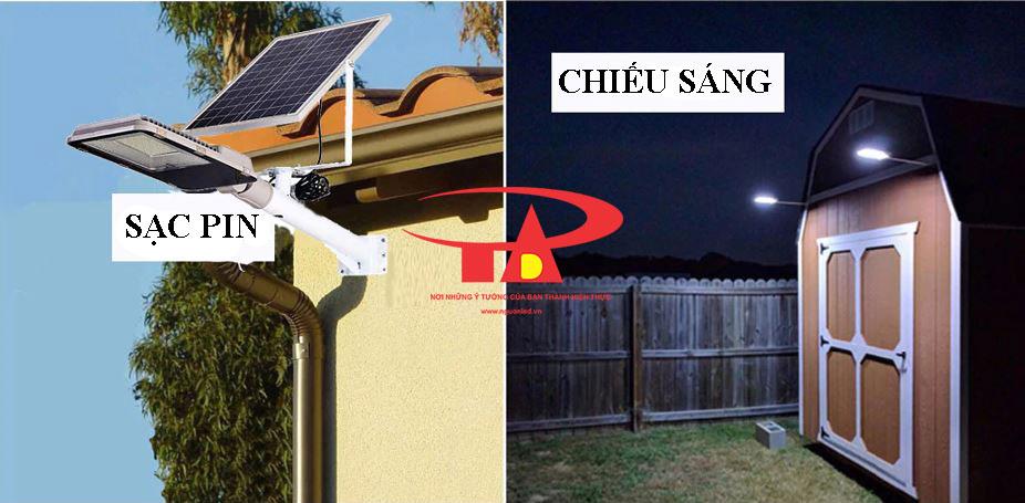 nguyên lý hoạt động của đèn đường năng lượng mặt trời 100w tiết kiệm điện
