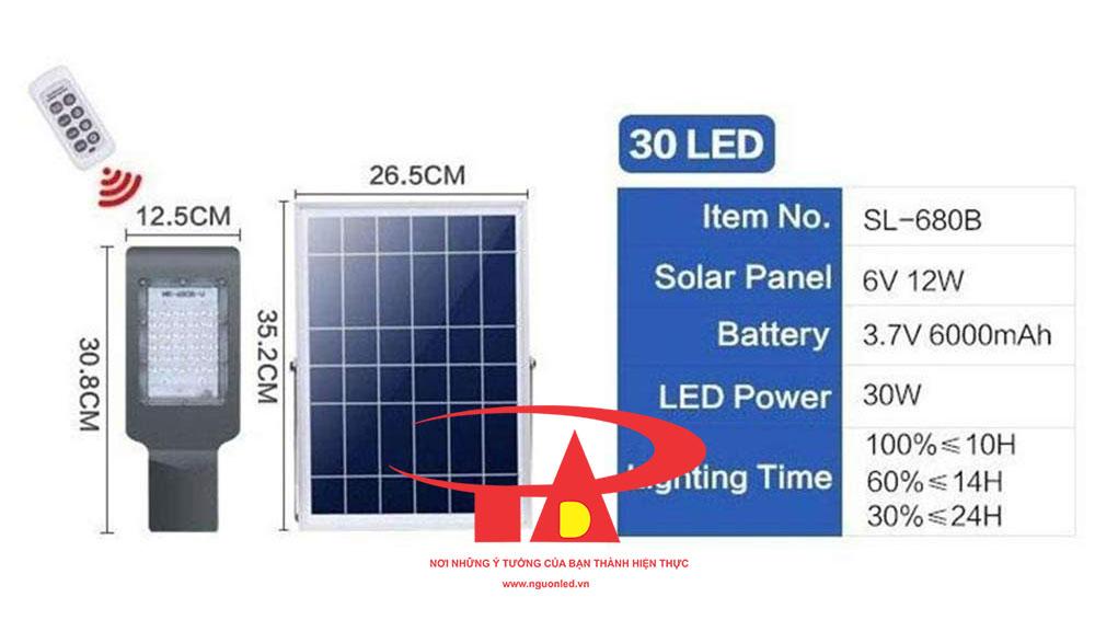 đèn led đường năng lượng mặt trời 30w chiếu sáng tốt