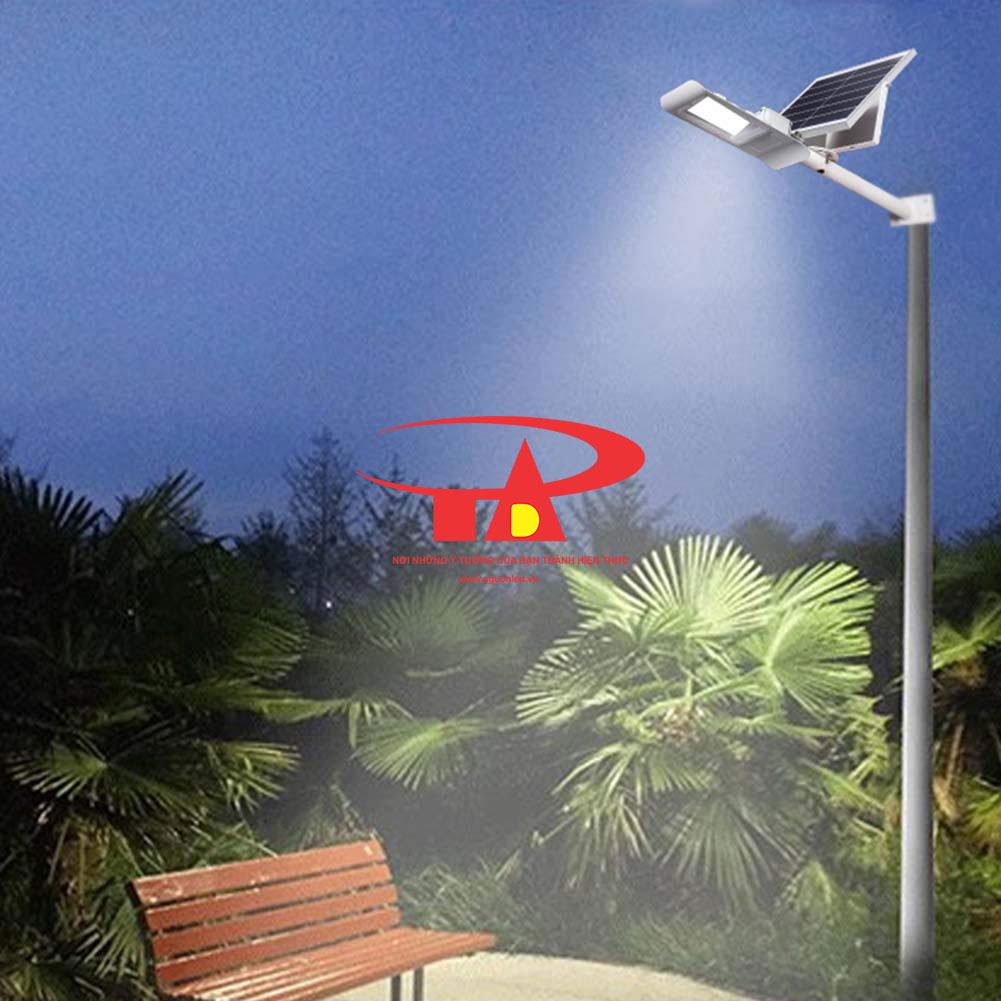 đèn đường năng lượng mặt trời 30w ứng dụng trong chiếu sáng công viên