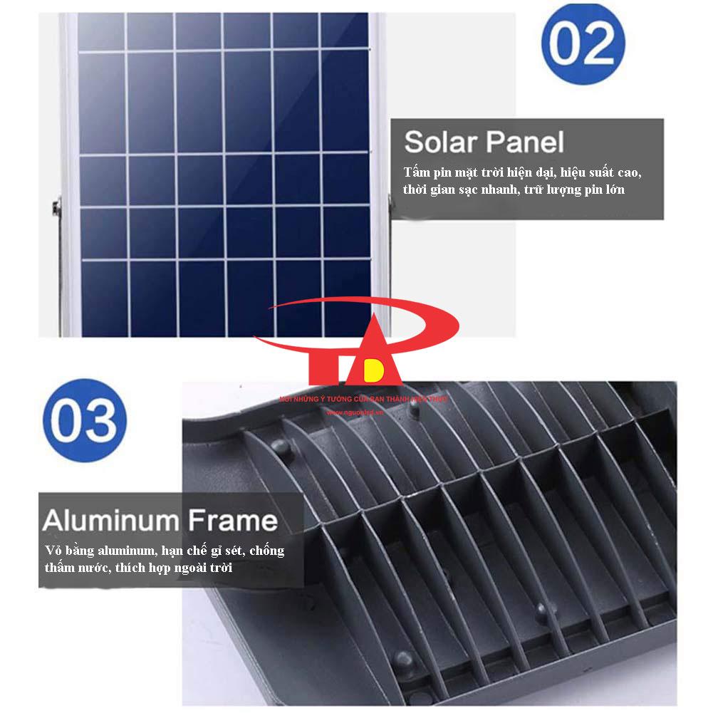 ưu điểm đèn đường led năng lượng mặt trời 50w chất lượng tốt
