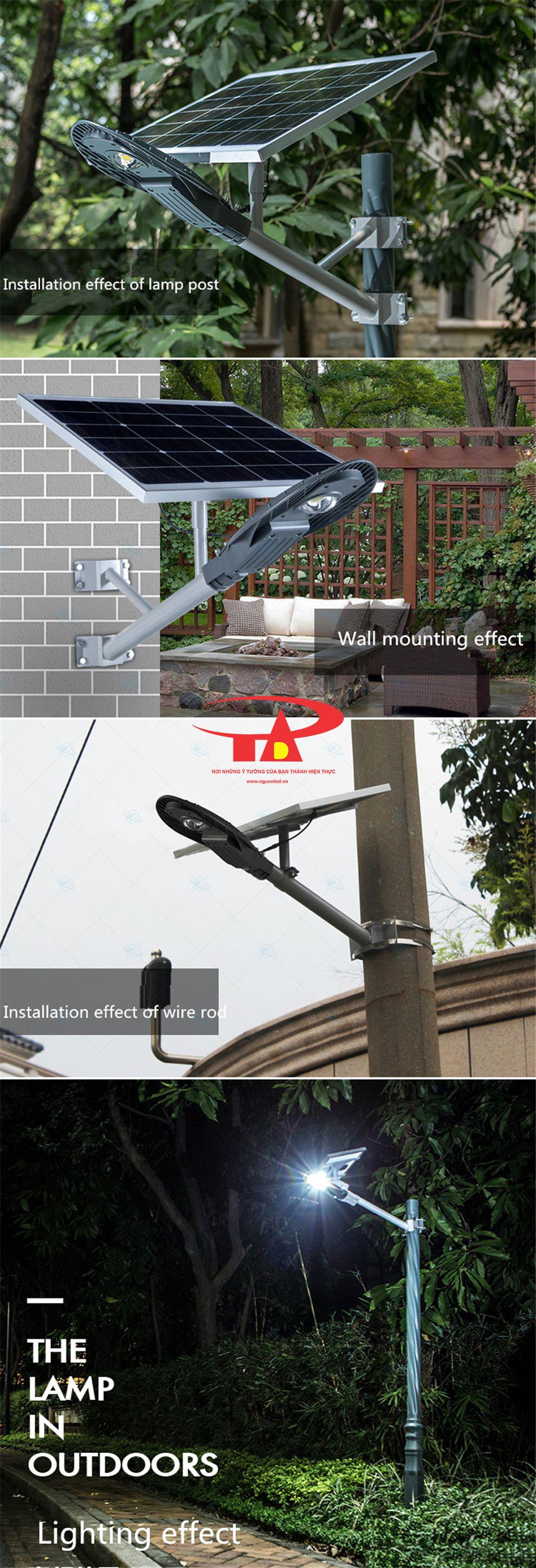 nguyên tắc hoạt động của đèn chiếu đường chiếc lá NLMT 60w hiệu suất tốt, chiếu xa