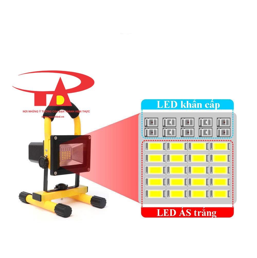 đèn pha sạc điện 30w loại tốt tại TPHCM