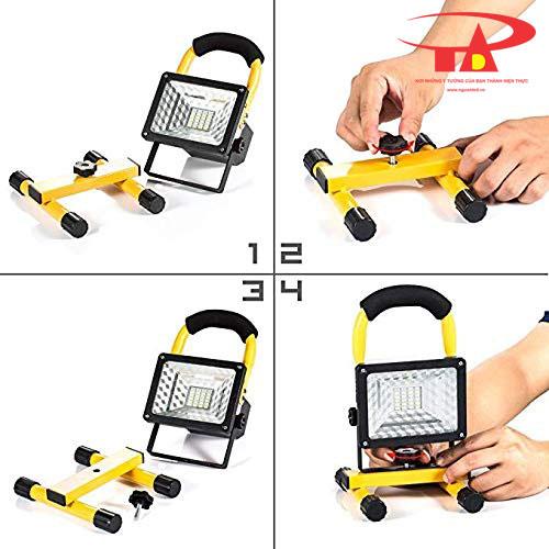 hướng dẫn lắp đặt đèn pha sạc 30w nhỏ gọn, mẫu mã đẹp