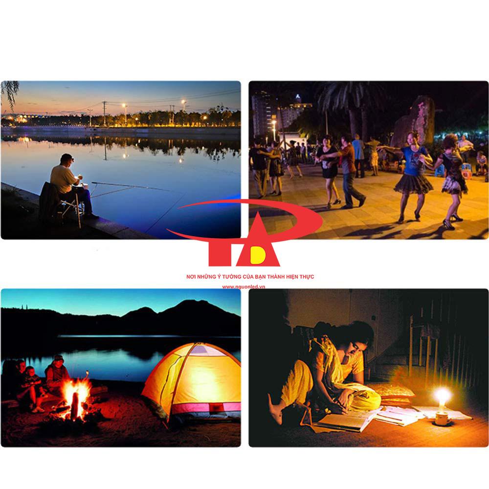 đèn pha sạc điện 50w chiếu sáng khi cắm trại, dã ngoại, trekking