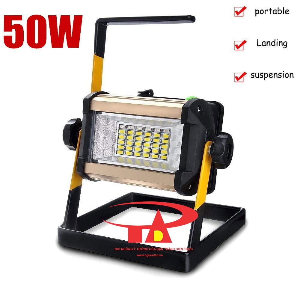 đèn pha sạc 50w giá rẻ tại TPHCM