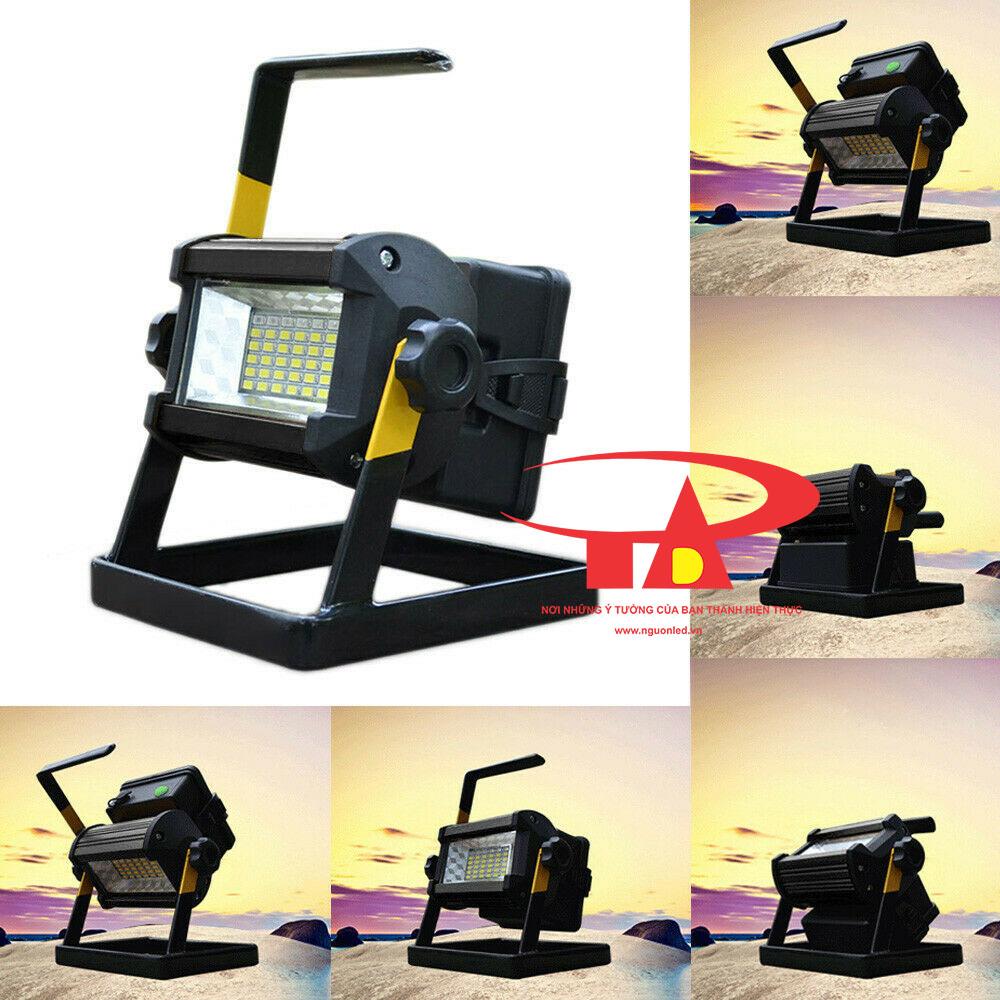 đèn pha sạc 50w chiếu sáng tốt, giá rẻ, chiết khấu cao
