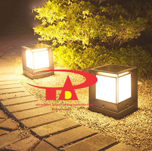 đèn trụ cổng năng lượng mặt trời chiết khấu cao, chiếu sáng rộng